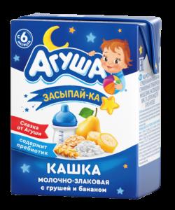 Агуша Каша Молоч 2,7% Злак Груша Банан 200мл