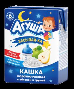 Агуша Каша Молоч 2,7% Рис Яблоко Груша  200мл