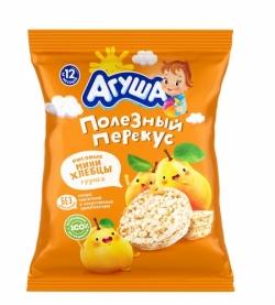 Агуша Хлебцы Рисов ХрустМини  Груша 0.2% 30г