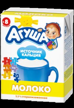 Агуша Молоко Стерилизован 4Витамина Иод 2,5% 200 мл
