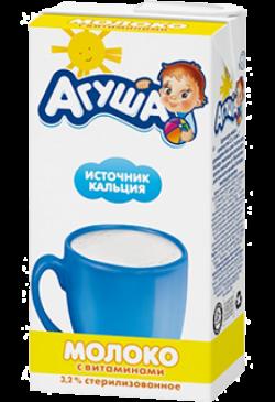 Агуша Молоко Стерилизован 4Витамина Иод 3,2% 500 мл