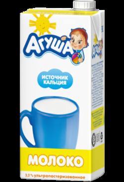 Агуша Молоко Ультрапастериз с 3лет 3,2% 925 мл
