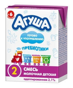 Агуша Смесь Молочная Стерилиз с Пребиот 3,1% 0,2л