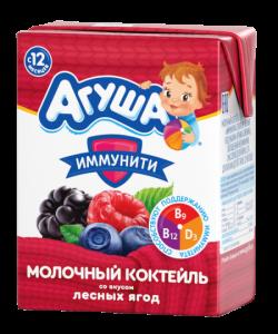 Агуша Коктейль молоч Ягоды Лесные 2,5% 200мл
