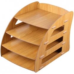 Лоток горизонтальный (деревянный,4 секции)