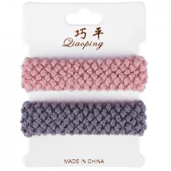Резинки для волос в наборе 2шт , цвет ассорти