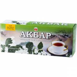 """""""Акбар"""" зеленый с жасмином 25*2гр пакет (24)"""