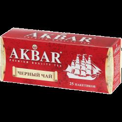 """""""Акбар"""" черн байховый мелкий 25*2г КОРАБЛЬ пакет (24) с/я"""
