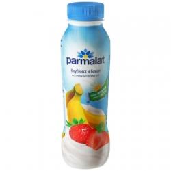 Parmalat Биойогурт питьевой Клубника Банан 290г пэт