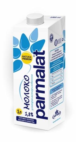 Parmalat МОЛОКО ультрапастеризованное 1,8%  1л