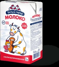 Белый город МОЛОКО  3,2% 1л
