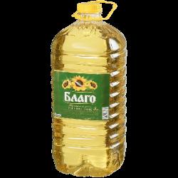 БЛАГО Масло подсолнечное раф.дез 5л Высший сорт (3) пластик
