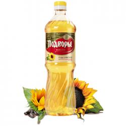 ПОДВОРЬЕ Масло подсолнечное раф.дез. 0,9л (15) пластик