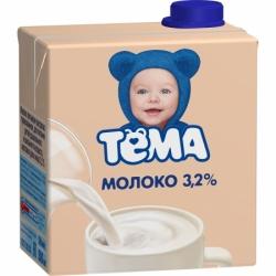 ТЕМА Молоко ультрапаст 3,2% 0,5лТетра