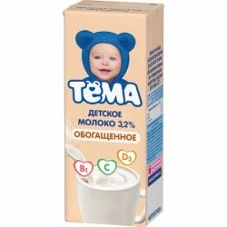 ТЕМА Молоко ультрапаст ОБОГАЩ 3,2% с крыш 0,2лТетра