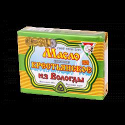 ВОЛОГДА Масло сливочное Крестьянское 72,5%жирн 180г(40)фольг