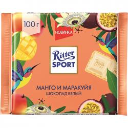 """Риттер Спорт""шок бел с манго-марак+хр.крош100г(12)Sum"