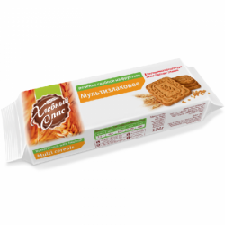 ХлебСпас Печенье сдоб Мультизлаковое на фруктозе 134г (12)