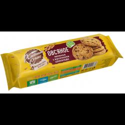 ХлебСпас Печенье сдоб Овсяное с кусочками шоколада 250г (10)