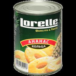 LORELLE Ананас кольца в сиропе 580 мл ж/б (12)