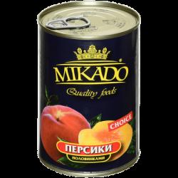 MIKADO Персики половинки 425мл (12) ж/б