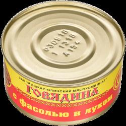 ЙОМ Консервы Говядина с фасолью и луком №8 325г (36)