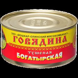 ЙОМ Консервы Говядина тушёная Богатырская 325г (36)