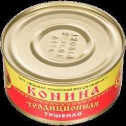"""ЙОМ Консервы Конина тушёная """"Традиционная"""" 325г (36)"""