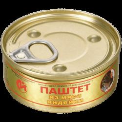 ЙОМ Консервы Паштет из мяса индейки 100г (24) с Ключом
