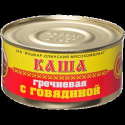 ЙОМ Консервы Каша гречневая с говядиной №8 325г (36)