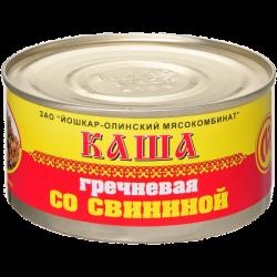 ЙОМ Консервы Каша гречневая со свининой №8 325г (36)
