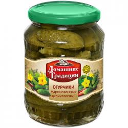 ДТ Огурчики деликатесные маринованные 3-6см 350г (20) ст/б