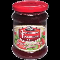 ДТ Варенье домашнее клубничное ГОСТ 320г (12) ст/б