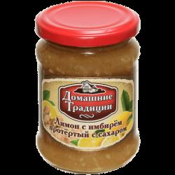 ДТ Ягода протертая Лимон с имбирем ГОСТ 350г (12) ст/б