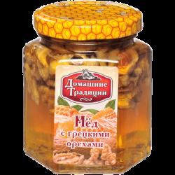 ДТ Мед натуральный с грецким орехом ГОСТ 250г (14) ст/б ШГ