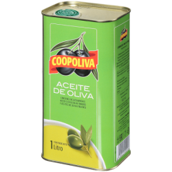 Coopoliva Оливковое масло 100% Pure 1л (12) ж/б