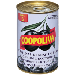 Coopoliva Маслины S c кост 280/320 300г (24) ж/б