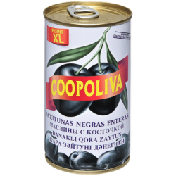 Coopoliva Маслины с кост 370мл /350г (24) ж/б