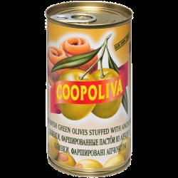 Coopoliva Оливки с анчоусом 370мл /350г (24) ж/б