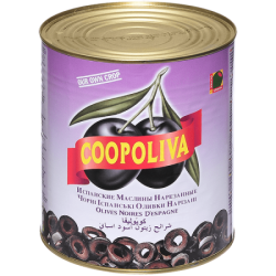 Coopoliva Маслины резанные 3000г (1) ж/б
