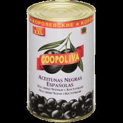 Coopoliva Маслины королевские с кост 80/100 4300г (3) ж/б