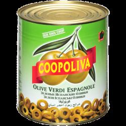 Coopoliva Оливки резанные 3000г (1) ж/б