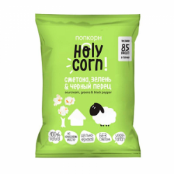 "Holy Corn Попкорн ""Сметана, зелень & черный перец""20г(20)"