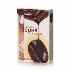 SOYAR кофейн. зерна в шоколаде КАППУЧИНО (12бл * 20шт) (240)