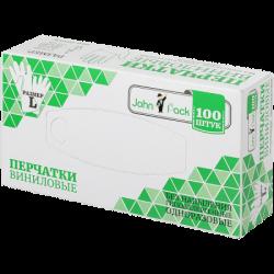 JohnPack Перчатки винил/неопудр/нестерил L 100шт (10)