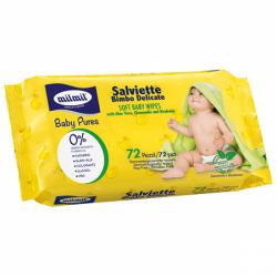 Салфетки влажные детские MILMIL72шт (12)