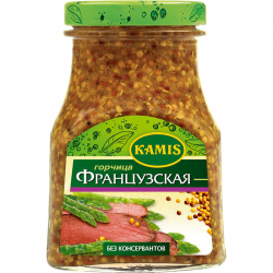 Kamis Горчица Французcкая 185г (6) ст/б