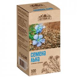 """""""Цветущий луг"""" семена Льна 100г (120)"""
