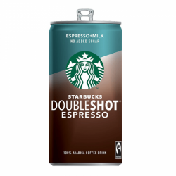 STARBUCKS Б/Сахара Doubleshot Espresso 2.6% 220мл (12) банка
