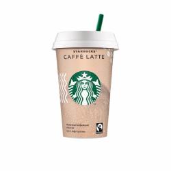 STARBUCKS молоч коф напит Caffe Latte 2,6% 220мл (10) стакан